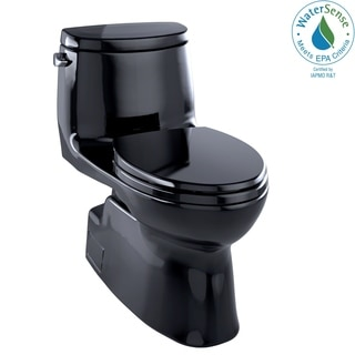 Toto MS614114CEF#51 Ebony Carlyle Elongated 1-piece Toilet