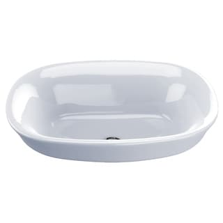 Toto LT480G#01 Cotton White Maris Vessel/Above Counter Porcelain 15.156 19.500 Bathroom Sink