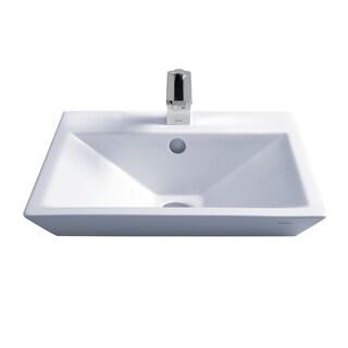Toto LT172.8G#01 Cotton White Kiwami Above Counter/Vessel Porcelain Bathroom Sink