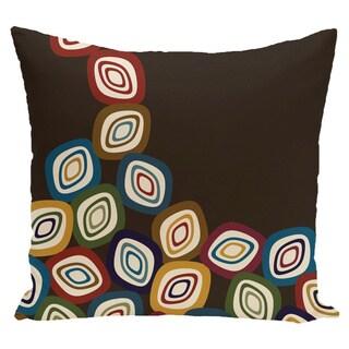 18 x 18-inch Falling Leaves Geometric Print Pillow