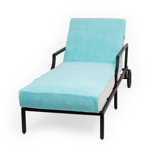 Authentic Turkish Cotton Aqua Green Towel Cover for Standard Size Chaise Lounge Chair