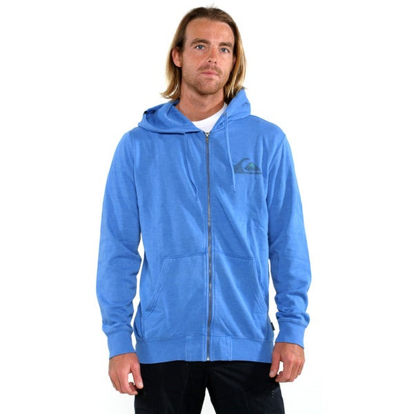 Quicksilver Men's Blue Duff Full zip Sweatshirt