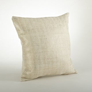Foil Design Burlap 20-inch Throw Pillow