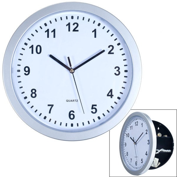 Wall Clock with Hidden Safe - 10 Inches