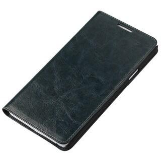 Hudson Samsung Galaxy S6 Genuine Leather Folio Flip Book Wallet Protective Case