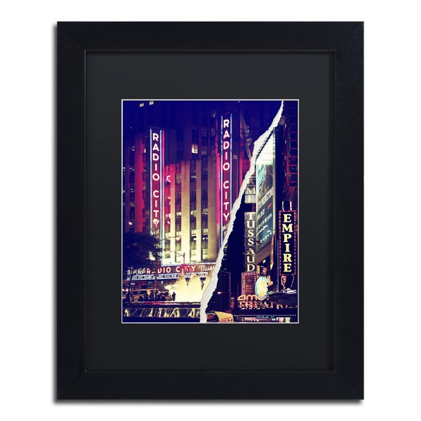 Philippe Hugonnard 'Times Square Theater District' Black Matte, Black Framed Wall Art