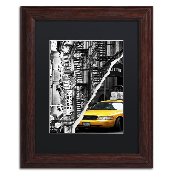 Philippe Hugonnard 'Live in New York' Black Matte, Black Framed Wall Art
