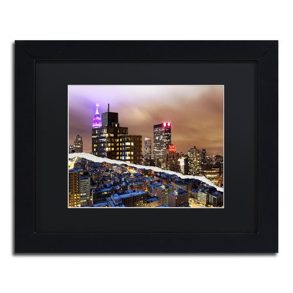 Philippe Hugonnard 'City That Never Sleeps' Black Matte, Black Framed Wall Art
