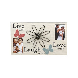 Melannco 3-opening Sentiment 12x20 Family Picture Frame