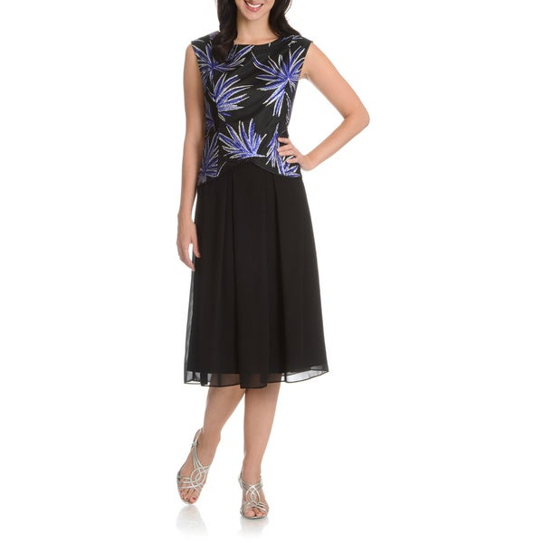 Le Bos Women's Sequin Bodice Dress