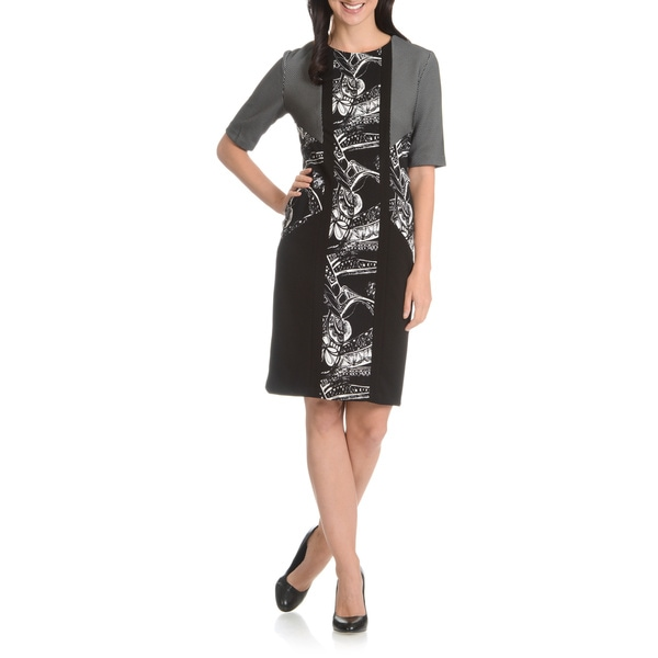 Dana Kay Women's Printed Inset Dress