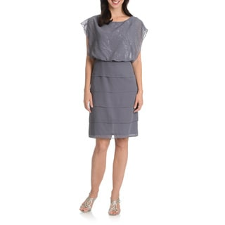 Le Bos Women's Tiered Bottom Dress