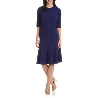 Maya Brooke Women's 2-piece Fit-and-Flare Jacket Dress