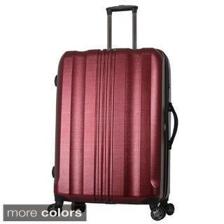 Gabbiano Blue, Grey, Burgundy, Brown 25-inch Expandable Hardside Spinner Upright Suitcase