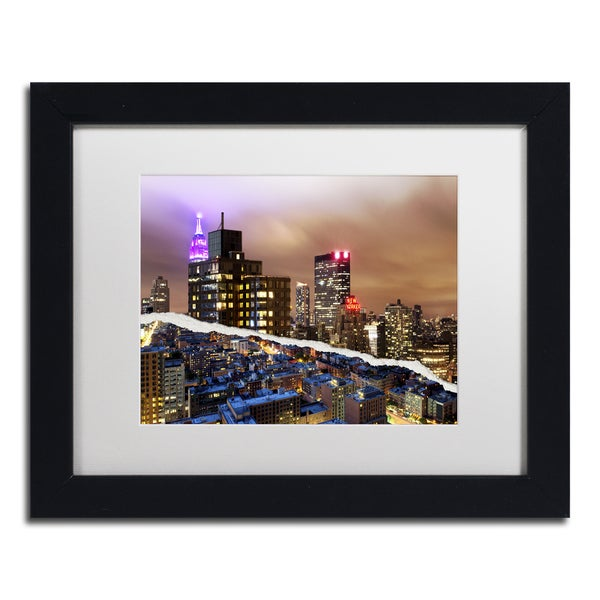 Philippe Hugonnard 'City That Never Sleeps' White Matte, Black Framed Wall Art