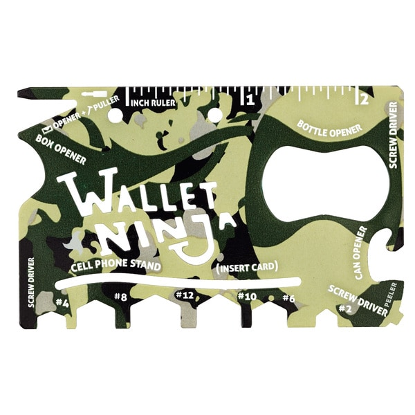 Camouflage Wallet Ninja 18 in 1 Multitool