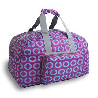 J World J Logo Buena Foldable 19-inch Carry-on Duffel Bag