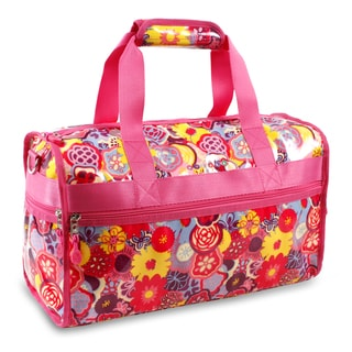 J World Poppy Pansy Molly 17-inch Carry-on Duffel Bag