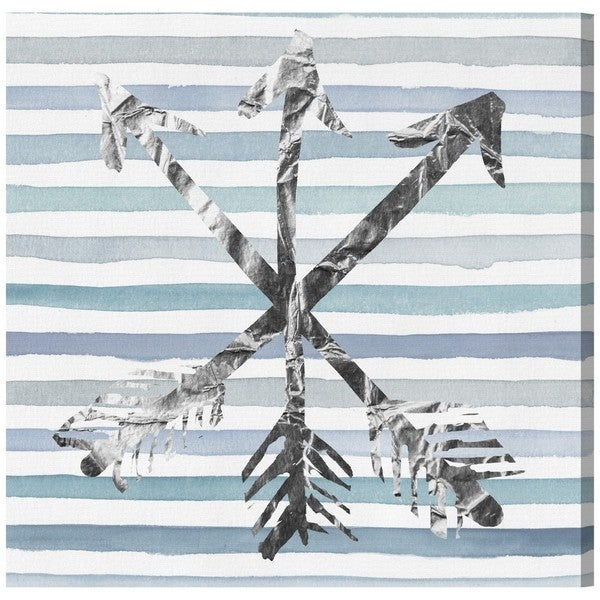 Runway Avenue 'Silver Arrows' Canvas Art