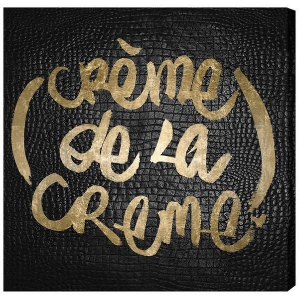 Runway Avenue 'Crme de la Crme ' Canvas Art