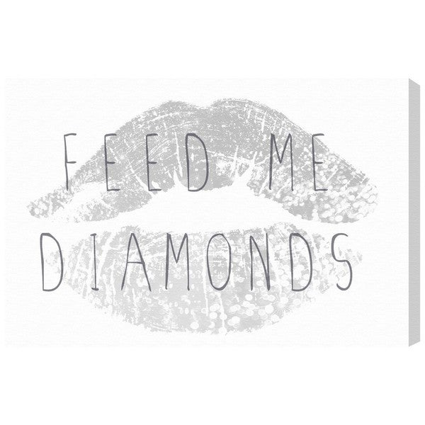 Runway Avenue 'Feed Me Diamonds' Canvas Art