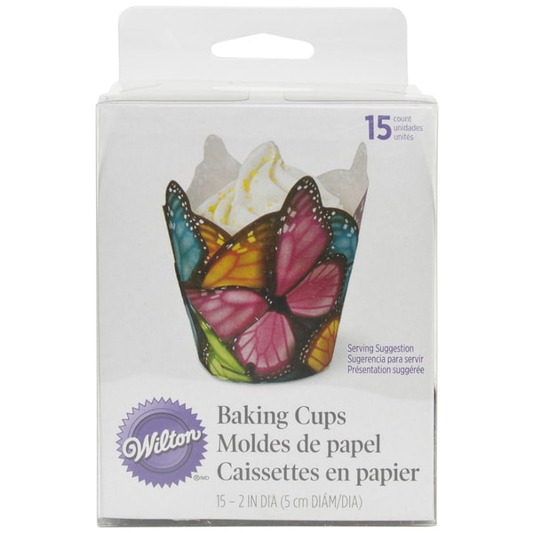 Specialty Baking CupsMulticolor Butterfly 15/Pkg 16139167