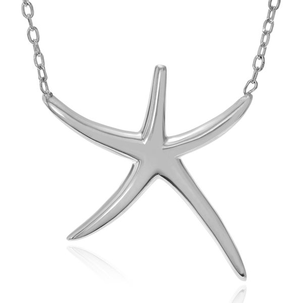 Journee Collection Sterling Silver Starfish Pendant