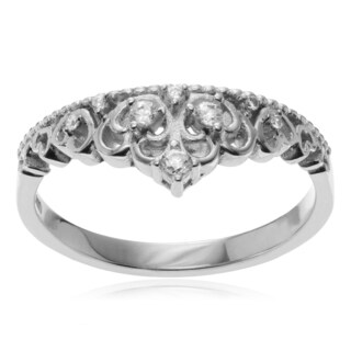 Journee Collection Sterling Silver Cubic Zirconia Accent Tiara Ring