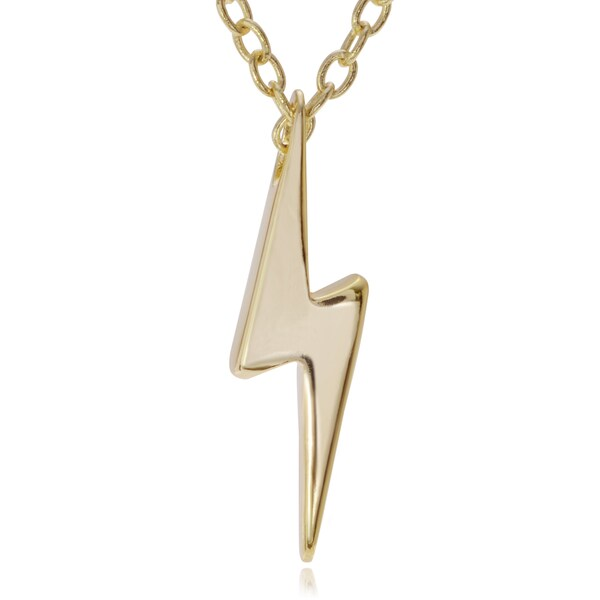 Journee Collection Sterling Silver Mini Lightning Bolt Pendant