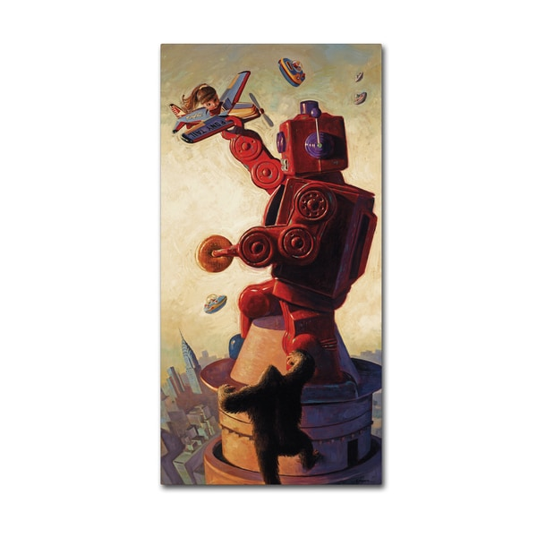 Eric Joyner 'Robo King' Canvas Wall Art