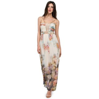 London Dress Company women's Maxi Dress with Floral Print Detailing