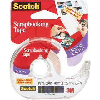 Scotch Scrapbooking Tape DoubleSided Removable.5inX300in