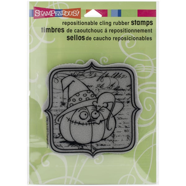 Stampendous Halloween Cling Rubber Stamp 6.5inX4.5in SheetEek A Boo