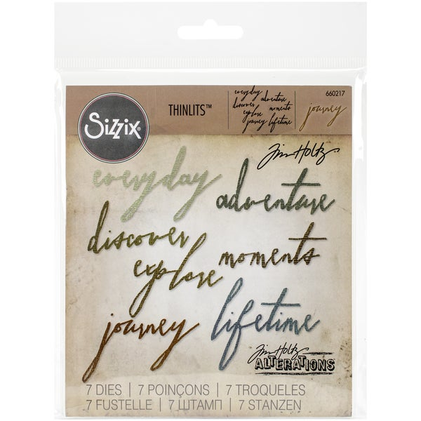 Sizzix Thinlits Dies 7/Pkg By Tim HoltzHandwritten Journey