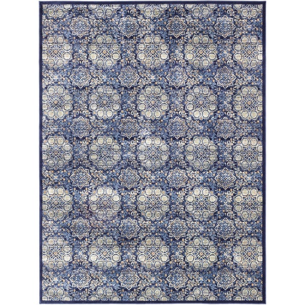 Ecarpetgallery Rosalyn Dark Navy Open Field Rug (7'10 x 10'2)
