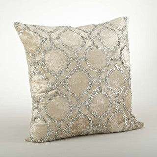 Velvet/Sequined 20-inch Throw Pillow