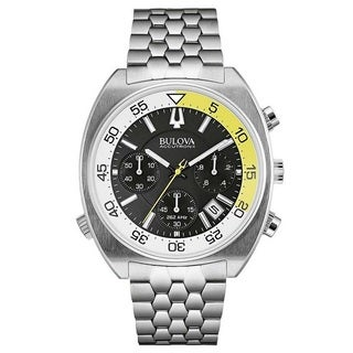Bulova Accutron II 96B237 Men's l Stainless Steel Chronograph Diver Watch. Date, Luminous Hands and Markers