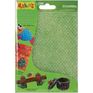 Makin's Clay Texture Sheets 7inX5.5in 4/PkgSet D (Scale,Snowflake,Woodgrain&Stars)