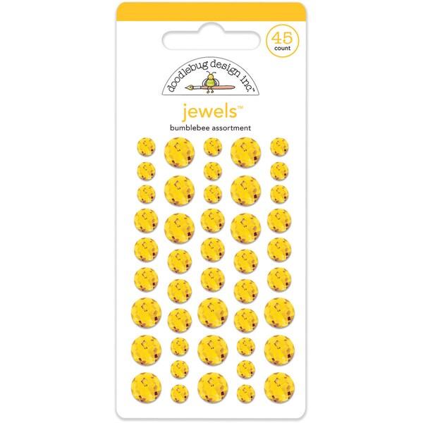 Doodlebug Adhesive Jewels 6mm, 8mm & 10mm 45/PkgBumblebee