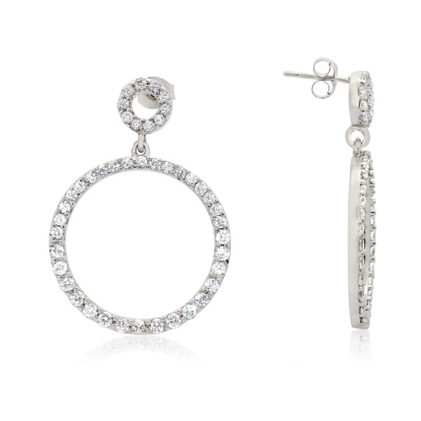 Gioelli Sterling Silver Cubic Zirconia Round Earrings