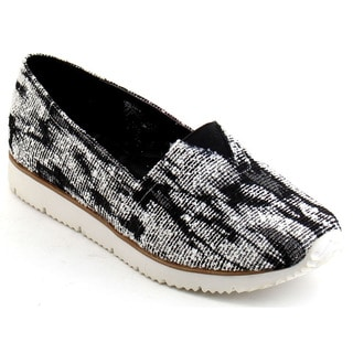 Black Swan Alex-4 Women's Comfy Slip On Fabric Sneakers