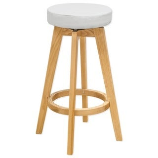 Mod Made Rex Wood Swivel Counter Mid-century Style Stool