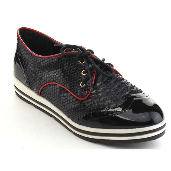 Black Swan Madison Women's Casual Lace Up Wing Tip Perforation Oxford