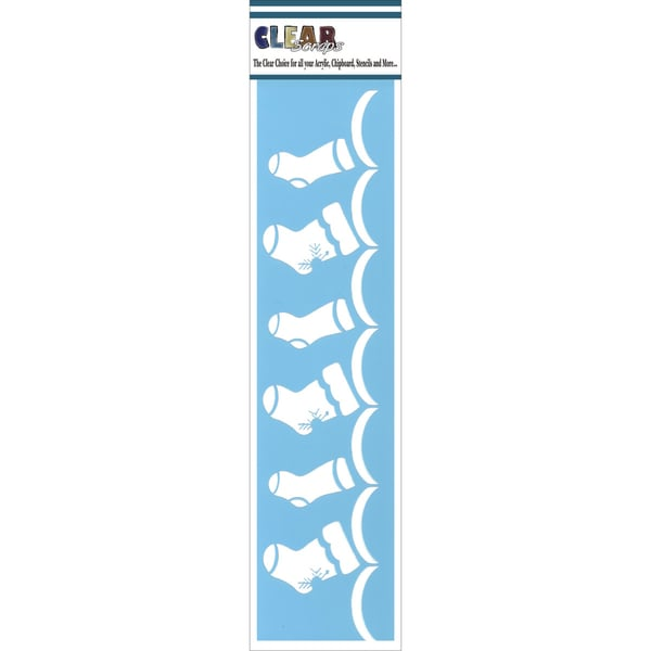 Clear Scraps Border Stencils 3inX12inStockings