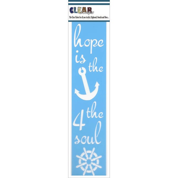 Clear Scraps Border Stencils 3inX12inHope Is The Anchor 4 The Soul