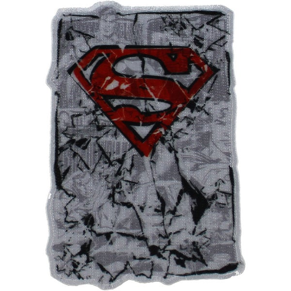 DC Comics PatchRed Superman Logo 4inX2.75in