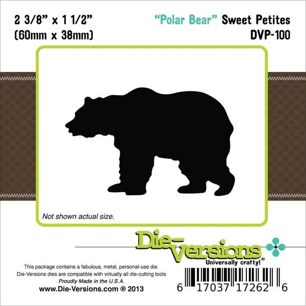 DieVersions Sweet Petites DiePolar Bear, 2.375inX1.5in