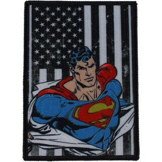 DC Comics PatchPatriotic Superman Portrait 4.5inX3in