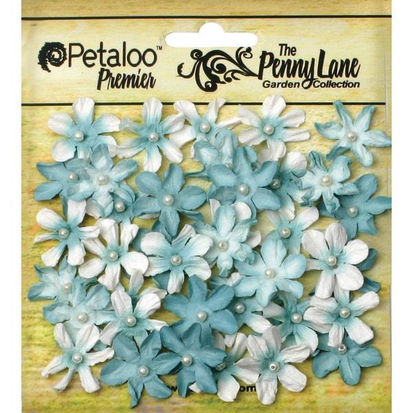 Penny Lane Mini Pearl Daisies .75in 40/PkgRobin's Egg Blue