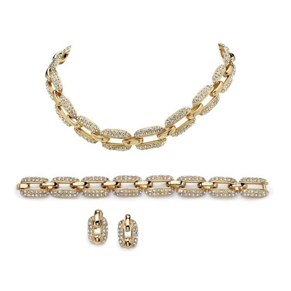 Lillith Star Goldtone Crystal 3-piece Jewelry Set